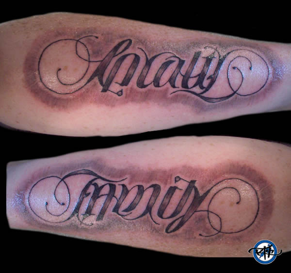 10 Coolest Ambigram Tattoos Oddee