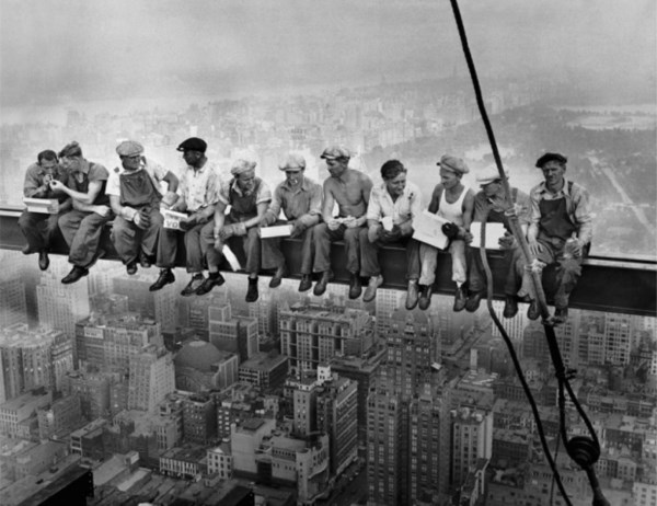 In 2012 On The 80th Anniversary Of Photo Called Lunch Atop A Skyscraper Where 11 Steel Workers Are Sitting Fearlessly Having An 8 Girder