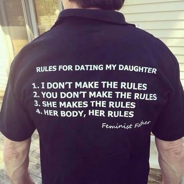 rules for daughters boyfriend
