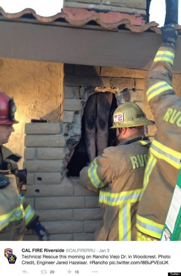 Woman Trapped in Chimney Breaking Into Online Date s House