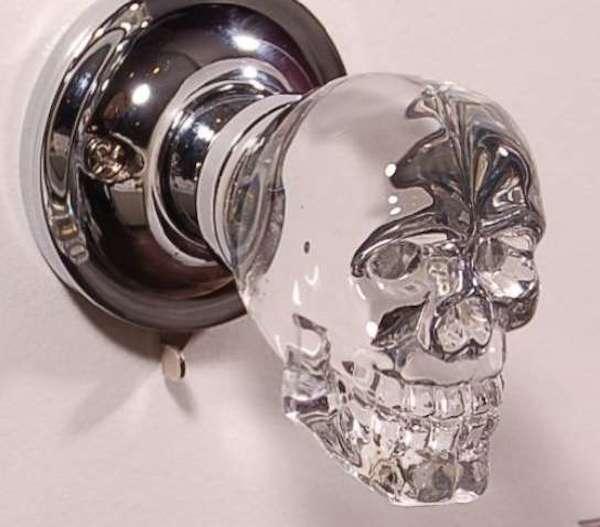 8crystal skull door knob
