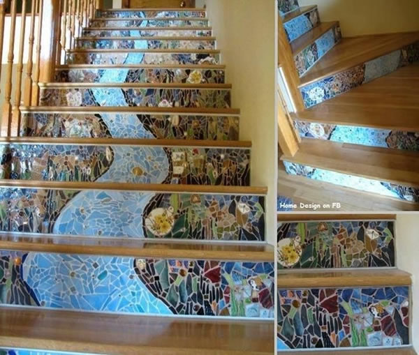 21 Attractive Painted Stairs Ideas Pictures: 10 Creative Staircase Paintings & Patterns