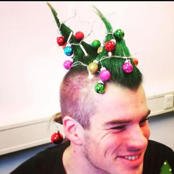 Christmas Hair.12 Hilarious Christmas Hairstyles Oddee