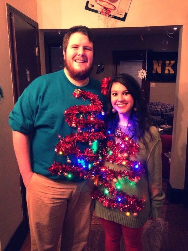 Elf On The Shelf: 12 Hilarious Ugly Christmas Sweaters For Couples