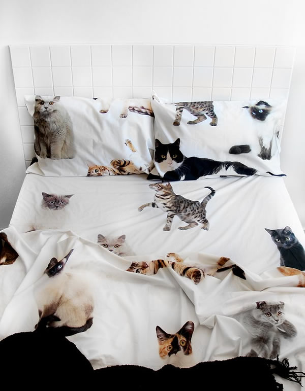 Best  or bring out your inner cat lady with with these sheets and pillowcases