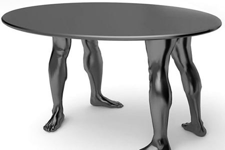12 coolest tables cool table human table pacman table for Strange table