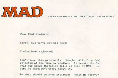 10 Funniest Rejection Letters rejection letters Oddee – Rejection Letters