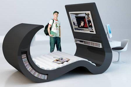 Coolest Desk 10 really cool desks - cool desks, space saving desk - oddee