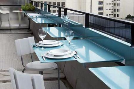 Space Saving Hanging Table For Balcony