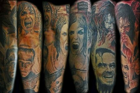 20 creeptastic horror movie tattoos horror tattoos art for X rated tattoos